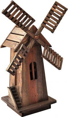 Shineco Wooden Windmill in Barnwood Finish
