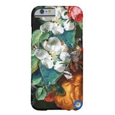 BUTTERFLY ON WHITE FLOWERS Floral Barely There iPhone 6 Case - animal gift ideas animals and pets diy customize