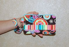 Clementine Boho Blossom - Wristlet Purse with Removable Strap and Interior Pocket