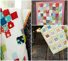 Free Patterns for Easy Charm Square Quilts - Bite Sized Biggie