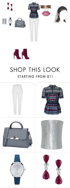 """Casual Outfit"" by helena94-1 on Polyvore featuring River Island, self-portrait, Plukka, Furla, Whiteley and polyvorefashion"