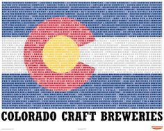 Colorado Craft Breweries 2nd Edition Art Print