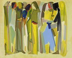 Paul Guiragossian (1927-1993) Women and children. Circa 1970