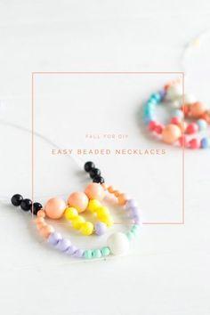 DIY Easy Beaded Necklaces