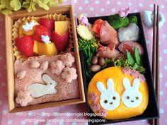 楽しくてお弁当とキャラベン: うさぎのキャラベン Bunny Character Bento