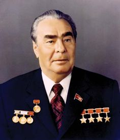 Undated photo showing secretary of the Soviet Communist Party Leonid. Party Central, Head Of State, 6 Photos, Cold War, Secretary, Presidents, Moskva, Unusual Art, Tyrannosaurus
