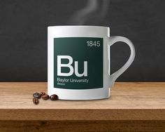 #Baylor University Periodic Table Coffee Mug. A perfect gift for fans, alumni and students!