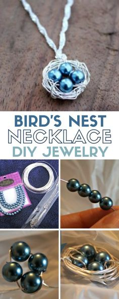 Bird's Nest Necklace | DIY Jewelry | Tutorial | Personalized Handmade Gifts | Beads