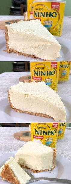 Essa torta cremosa de LEITE NINHO é SURREAL!!!!😱Desmancha na boca de tão cremosa, além de super rápida e fácil, tem pouquíssimos ingredientes! #torta #tortadeleiteninho#byigorhealthy