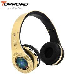 [US $12.53] Toproad светящиеся Bluetooth наушники Fone де ouvido наушники стерео Бас гарнитуры Встроенный микрофон светодиодный TF FM радио ...  #bluetooth #fone #ouvido #toproad Beats Headphones, Over Ear Headphones, Bluetooth