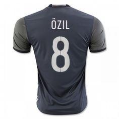 Tyskland 2016 Ozil 8 Borte Drakt Kortermet.  http://www.fotballteam.com/tyskland-2016-ozil-8-borte-drakt-kortermet.  #fotballdrakter