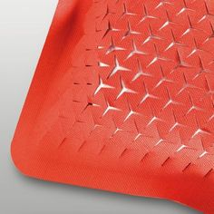 red #textile #perforated @My eyes open