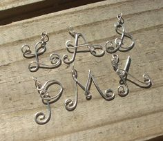 Letter necklace pendant from wire                                                                                                                                                     More