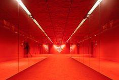 San Mamés Stadium Bilbao Architects: ACXT-IDOM Cesar Azcarate Features: Lacquered and Stamped Aluminium San Mamés, Expanded Metal Mesh, World Architecture Festival, Modern Architecture, Metal Facade, Perforated Metal, Color Effect, Interior Design Studio, Coups