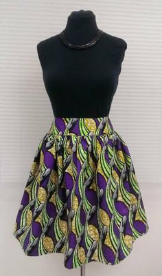 African Print/Ankara Skater Skirt