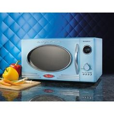 Blue retro-style microwave!   We'll probably end up with all second-hand appliances, but just maybe...