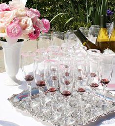Raspberry Champagne - Bridal Shower Drinks