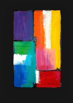Original Abstract Acrylic Painting Original by OraBirenbaumArt