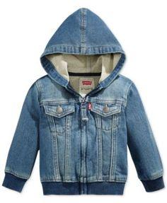 Levi's® Baby Boys' Knit denim Hoodie