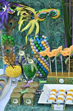 Peacock Mardi Gras Party Ideas   Photo 15 of 37   Catch My Party