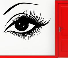 Wall Sticker Vinyl Decal Eye Hot Sexy Decor For Woman Girl Teen (z1064)