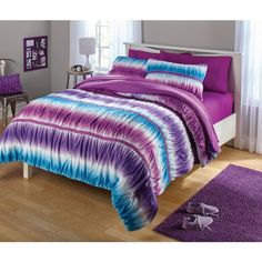 Free 2-day shipping on qualified orders over $35. Buy your zone ruched tie dye comforter set at Walmart.com
