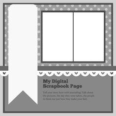 12x12 Scrapbook Sketch. Contain 2 Photos.
