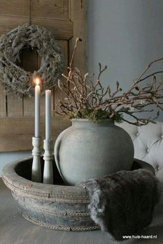 Round Wood Barrel Basin Looking for items to create a rustic elegant room, antique rustic wooden was French Country Rug, French Country Decorating, Cottage Decorating, Rustic Decor, Farmhouse Decor, Deco Champetre, Deco Floral, Country Style Homes, Rustic Elegance