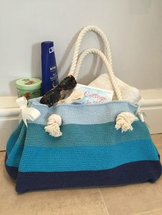 LoveCrochet |  Crochet feels like it's made for the beach! Here are five fabulous beach patterns to enjoy – from bags to sandals and tank tops.  Ombré Beach Bag by Kate Eastwood – for the FREE tutoria