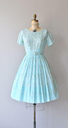 Flowering Dogwood dress vintage 1950s dress floral by DearGolden