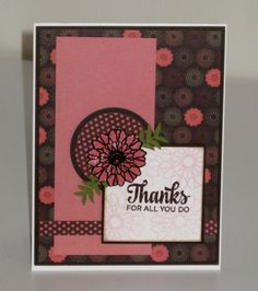 Hand stamped card by Kalla Walla using the Button Best set from Verve. #vervestamps