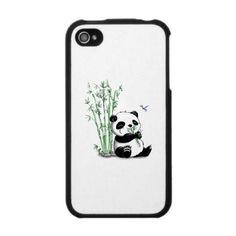 Panda Eating Bamboo Iphone 4 Skin from http://www.zazzle.com/panda+iphone+cases