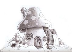 fairies and mushrooms simple drawings - Google Search
