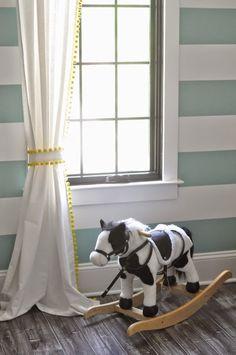 diy 15 pompom trim curtains