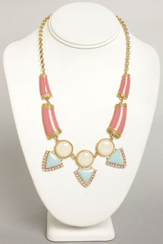 Gem and Us Pink Rhinestone Necklace at LuLus.com!