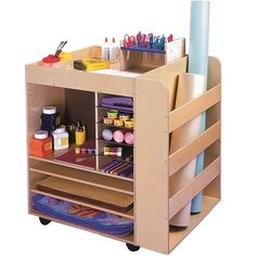Keep all of your art supplies organized with the rolling Art Supply Cart