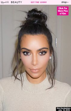 Kim Kardashian's Sexy Summer Bun In Hamptons — Copy Exact Look In 8 Steps