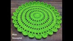 Crochet Beautiful Doily Step By Step Tutorial – Crochet Ideas Crochet Placemat Patterns, Crochet Doily Rug, Crochet Circles, Crochet Dishcloths, Granny Square Crochet Pattern, Crochet Tablecloth, Crochet Stitches Patterns, Crochet Home, Diy Crochet
