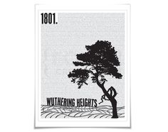 Wuthering Heights Art Print Emily Brontë Book by FolioCreations