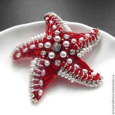 """Брошь """"Морская звезда"""" – купить в интернет-магазине на Ярмарке Мастеров с доставкой"""