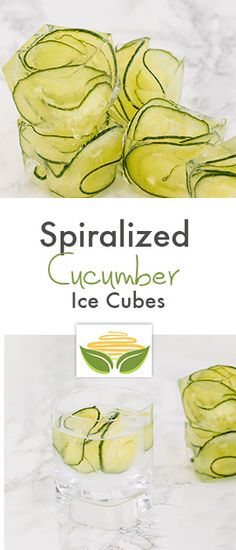 Spiralizer Hack: Ice Cubes with Spiralized Cucumbers