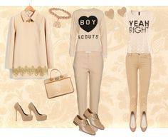 """The Beige Age"" by jennilivesley on Polyvore"
