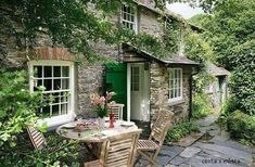 garden, home, and house image - My Garden Decor List French Cottage Garden, Cottage Patio, Cottage Exterior, Rural Retreats, French Architecture, Cottage Style Homes, English House, Outside Living, Stone Houses