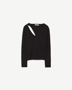 Image 8 of CROPPED SWEATER WITH ASYMMETRIC CUT-OUT from Zara