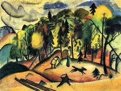Forest walk, August Macke
