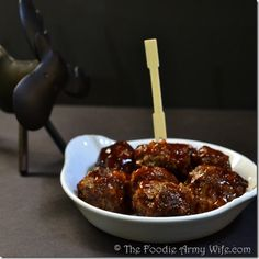Drunk Moose Meatballs - I don't have access to moose so I made these with ground beef. The sauce is amazing, the meatballs were very bland. I also tried the sauce on some little smokies and they were fantastic... Making this a simple to throw together party food.