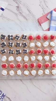 Watch this festive flag disappear before your eyes at your 4th of July gathering. #Sponsored by Daisy. Watch how to make Mini Frozen Key Lime Pies on Tastemade.com!