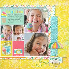 Calypso Collection by Little Dreamer Designs--Layout by Lauren