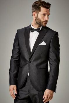 Buy Grey Textured Skinny Fit Suit: Jacket from the Next UK online shop