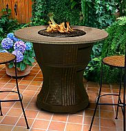 California Outdoor Concept Elegant Rodeo Balcony Height Fire Pit Table - Outdoor Fire Pits & Fireplaces - California Outdoor Concepts - Home and Patio Decor Center Fire Pit Coffee Table, Outdoor Fire Pit Table, Modern Outdoor Fireplace, Gas Fire Pit Table, Outdoor Tables, Outdoor Fireplaces, Outdoor Ideas, Outdoor Living, Small Gas Fire Pit